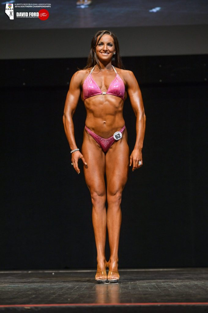 Dr. Mandy in a bodybuilding competition